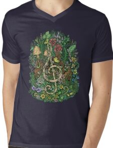 The Charm Of Music Mens V-Neck T-Shirt