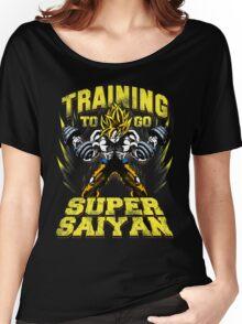 training to go super saiyan ssj gym Women's Relaxed Fit T-Shirt