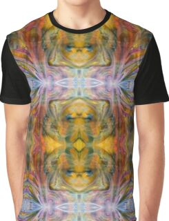 Psychedelic Fairy Wings Pink Yellow Abstract Graphic T-Shirt