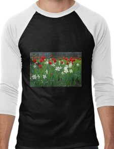 Tulips and Tiny Daffodils Men's Baseball ¾ T-Shirt
