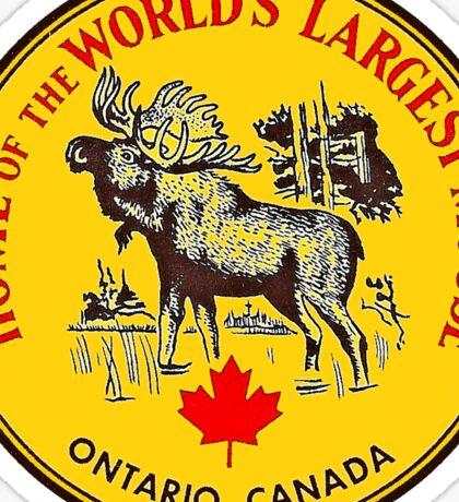 Ontario Moose Vintage Travel Decal Sticker