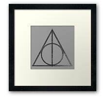 Deathly Hallows Logo - Vintage V2 Framed Print