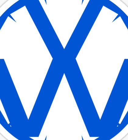 VW Symbol - Meteorsandstars edition (Blue) Sticker