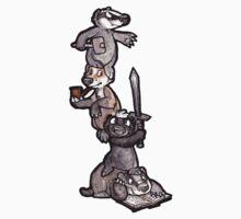 Badger Pile Cartoon by djinni