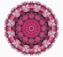 Beautiful pink Blossoms 001, Nature Mandala Kids Tee