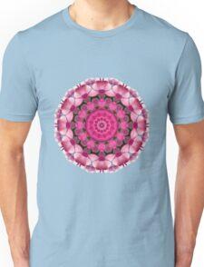 Beautiful pink Blossoms 001, Nature Mandala Unisex T-Shirt