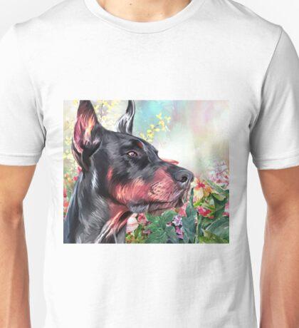 Doberman Pinscher Painting  Unisex T-Shirt