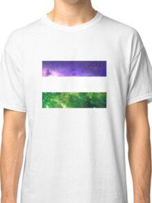 Non Binary Flag - LGBTQ Galaxy Classic T-Shirt