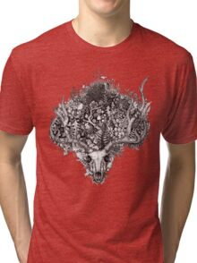 Life's Mystery: The Deer Skull Tri-blend T-Shirt