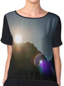 Moon Flare over the Mountains Chiffon Top
