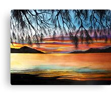 Sunset at the Whitsundays, Australia Canvas Print