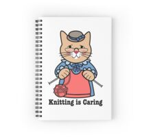 Knitting is Caring, cat woman Spiral Notebook