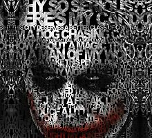 Halloween Black and white Clown typograph by Dadang Lugu Mara Perdana