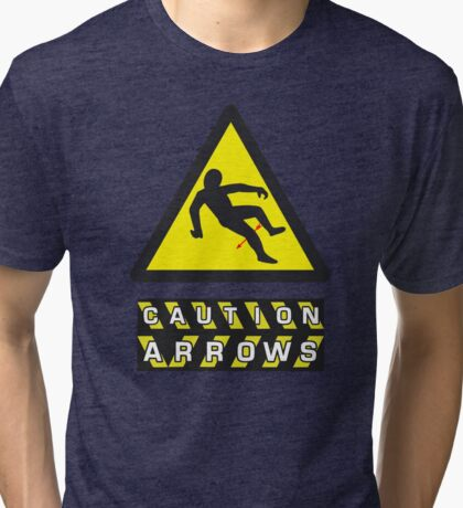 Caution: Arrows Tri-blend T-Shirt