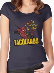 TACOLANDS Women's Fitted Scoop T-Shirt