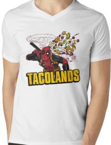 TACOLANDS Mens V-Neck T-Shirt