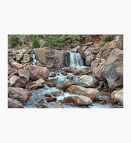 South Boulder Creek Waterfall Photographic Print
