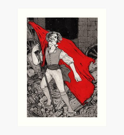 Enjolras at the Barricade Art Print