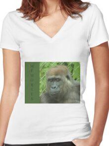 Memories Women's Fitted V-Neck T-Shirt