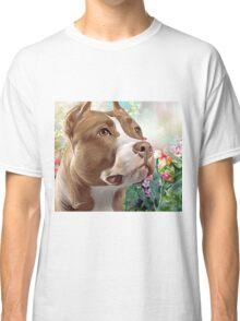 Pit Bull Painting  Classic T-Shirt