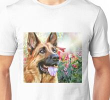 German Shepherd Painting Unisex T-Shirt