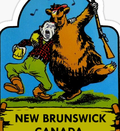 New Brunswick Canada Vintage Travel Decal Sticker