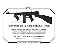 Thompson Submachine Gun. Photographic Print