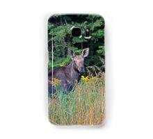 Moose in the meadow Samsung Galaxy Case/Skin