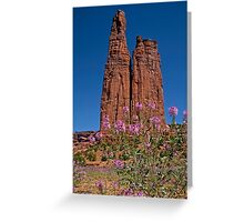 Spider Flowers and Spider Rock Greeting Card