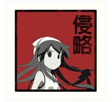 Squid Girl - INVADE! Art Print