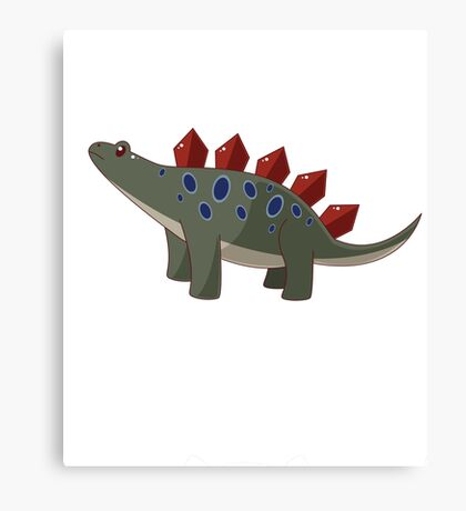 Classic Cartoon Stegosaurus Dinosaur Print Canvas Print