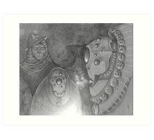 The Shaman's Fireside Tale Art Print