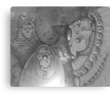 The Shaman's Fireside Tale Canvas Print