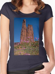 Spider Flowers and Spider Rock Women's Fitted Scoop T-Shirt
