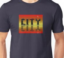 Abstract golden skyline. Unisex T-Shirt