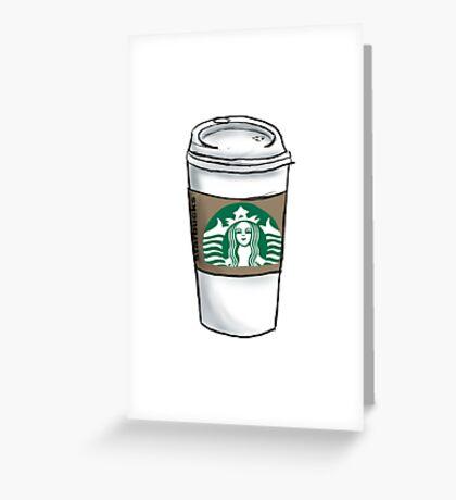 Starbucks Coffee Drin Greeting Card