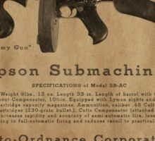 Thompson Submachine Gun. Sticker