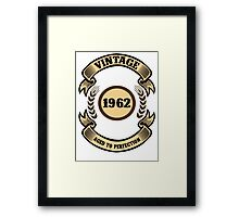Vintage 1962 Aged To Perfection Framed Print