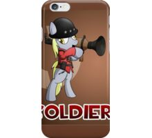 Soldier TF2 Pony Badge iPhone Case/Skin