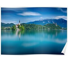 Dreaming on lake Bled Poster