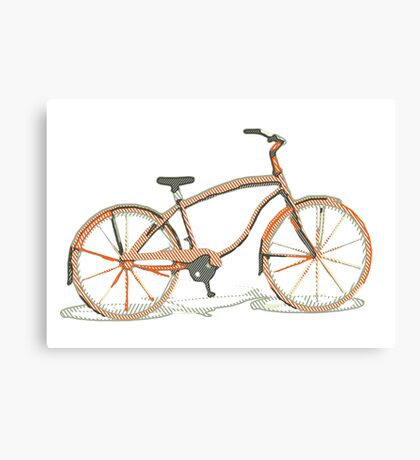 Cute bicycle Canvas Print