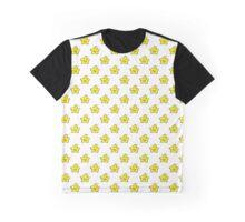 Derpy Star Pattern Graphic T-Shirt