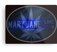 Mary Jane - Cool Metal Print