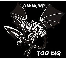 Ridley - Never say too big 4 Photographic Print
