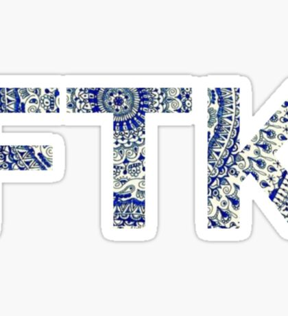 Blue Mandala FTK Sticker