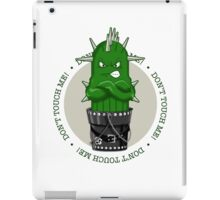Cactitudes Don't Touch Me iPad Case/Skin