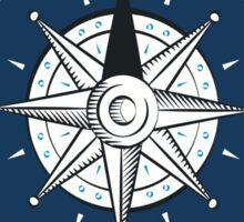KEY WEST FLORIDA NAUTICAL COMPASS ANCHOR BEACH OCEAN ROUND Sticker