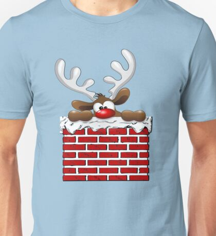 Santa Claus Christmas Reindeer, Funny T-Shirts, Holiday Gear Unisex T-Shirt