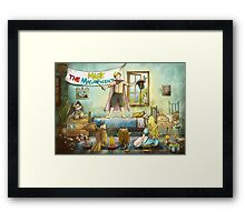 Buffalo Bill And The Indians Framed Print