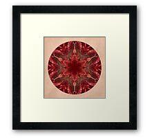 Red Star Mandala Framed Print